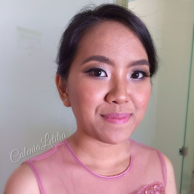 Bridesmaid for Gisella & Adhi Wedding by Calenia Letitia Makeup Artist - 004