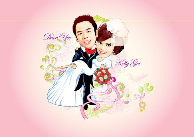 Wedding Caricature by littlebitmoar.com - 006