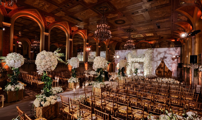 Opulent classical wedding with custom structures by Daniel Events - 003