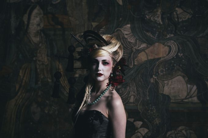 Dark Fantasy Asian Wedding Style Editorial Shoot by Asian Fusion Weddings - 017
