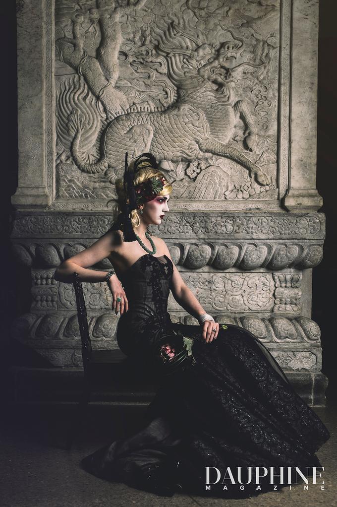Dark Fantasy Asian Wedding Style Editorial Shoot by Asian Fusion Weddings - 002