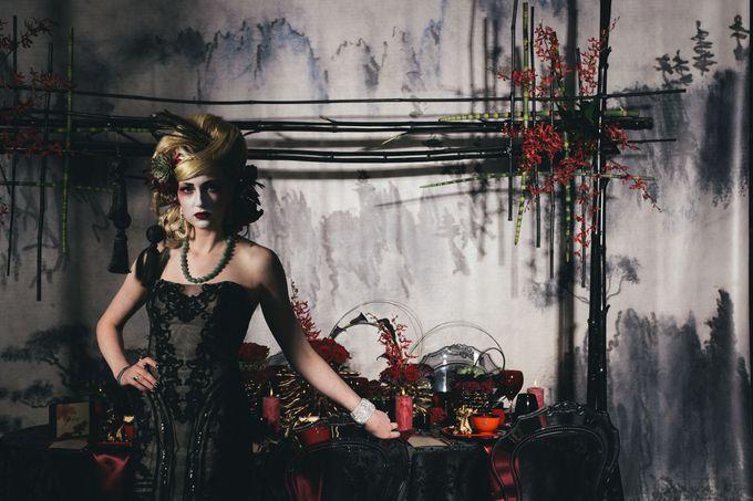 Dark Fantasy Asian Wedding Style Editorial Shoot by Asian Fusion Weddings - 016