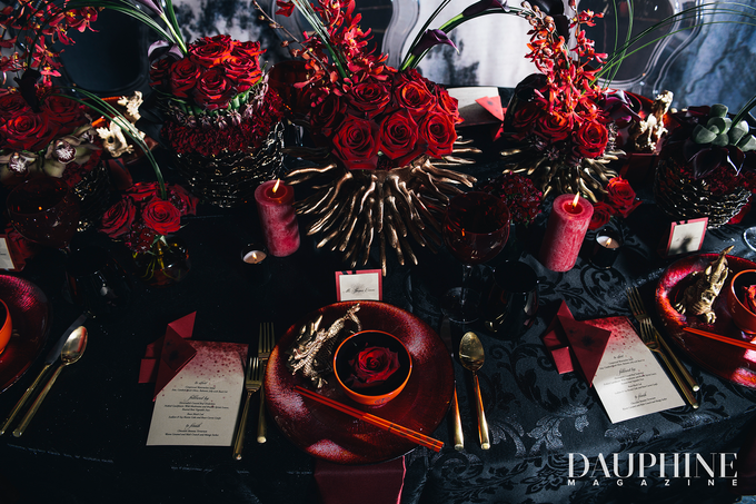 Dark Fantasy Asian Wedding Style Editorial Shoot by Asian Fusion Weddings - 004