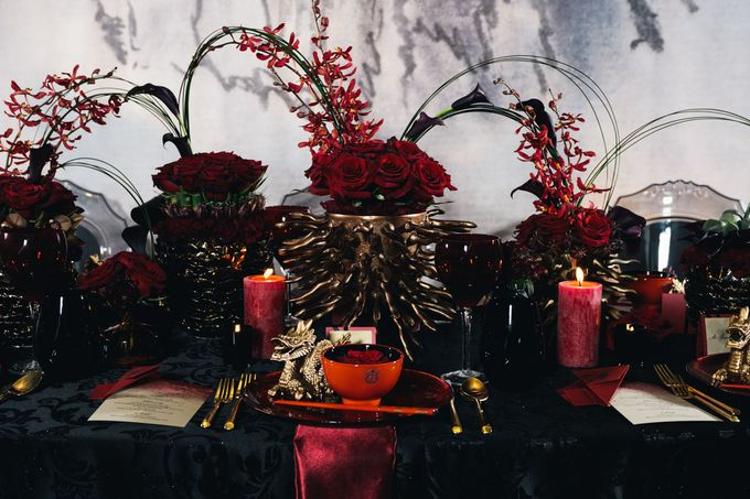 Dark Fantasy Asian Wedding Style Editorial Shoot by Asian Fusion Weddings - 008