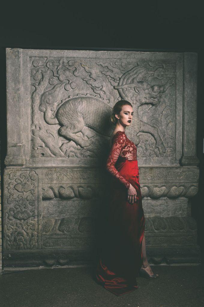 Dark Fantasy Asian Wedding Style Editorial Shoot by Asian Fusion Weddings - 020