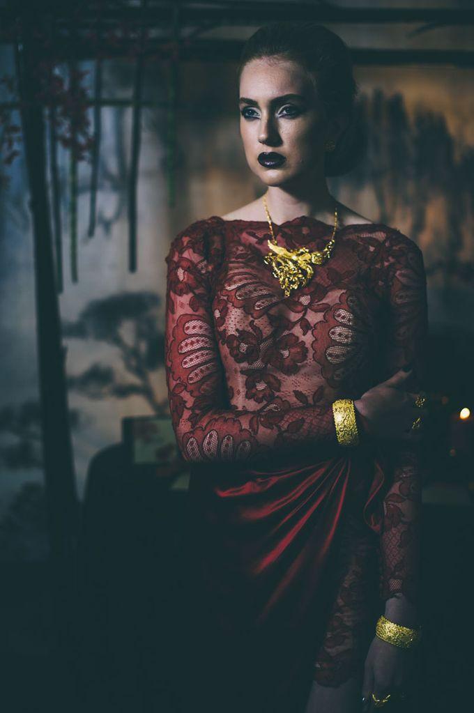 Dark Fantasy Asian Wedding Style Editorial Shoot by Asian Fusion Weddings - 013