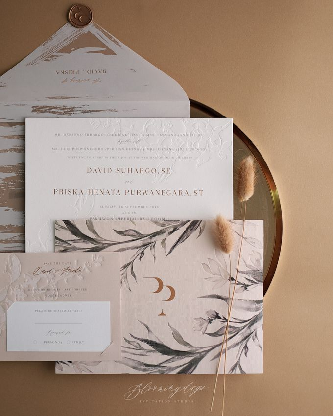BOTANICAL ELEGANCE by BloomingDays Invitation Studio - 001