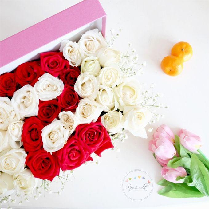 Flower in a Box Arrangement by Roseveelt Florist - 015