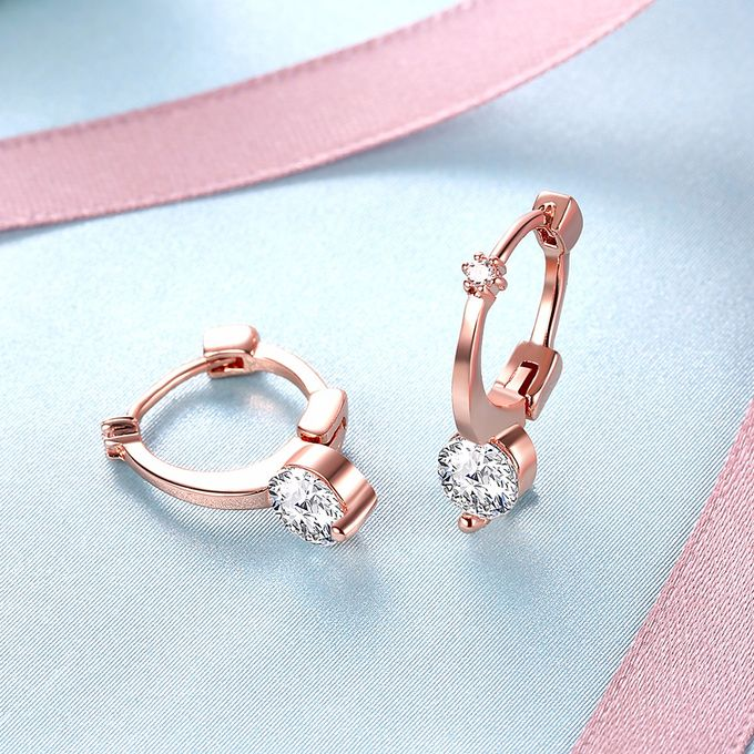 TIARIA Diamond Simple & Chic Gold Earring Perhiasan Anting Emas Berlian by TIARIA - 004