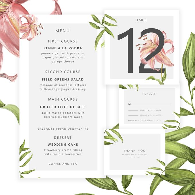Botanical Wedding Invitation by Tokoku - 004