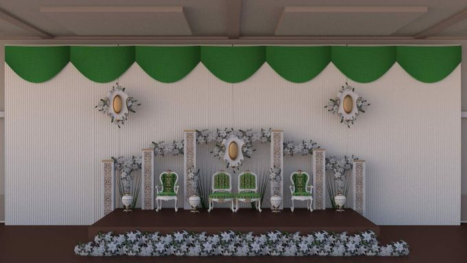 minimalis Weddingvideo Mapping Medium Package by D n A Decoration - 001