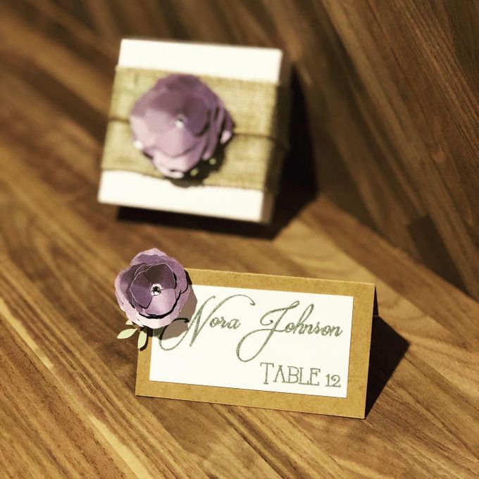Wedding Place Cards by paper & string - 006