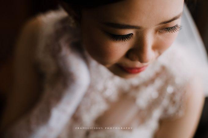 Bride Debbie - High Neck Illusion Fitted Silk Chiffon Wedding Dress - Dentelle Bridal by Framelicious Studio - 004