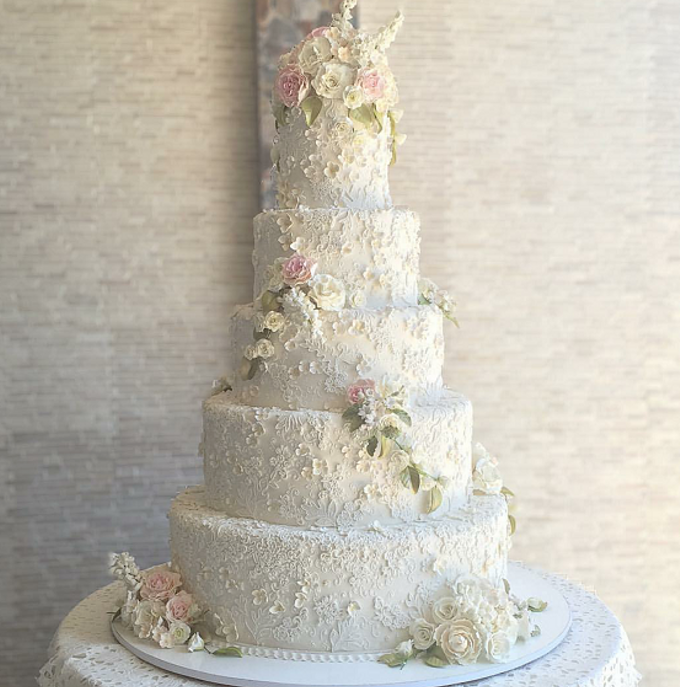 5 & 6 Tiers Wedding Cake by LeNovelle Cake - 001