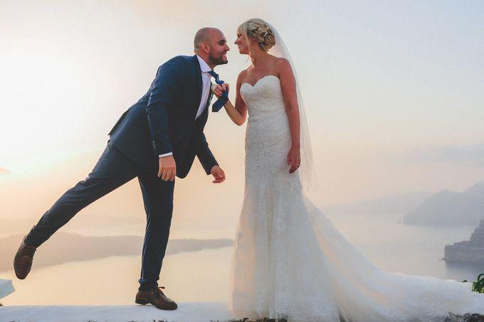 Romantic elegant wedding in Santorini by MarrymeinGreece - 003