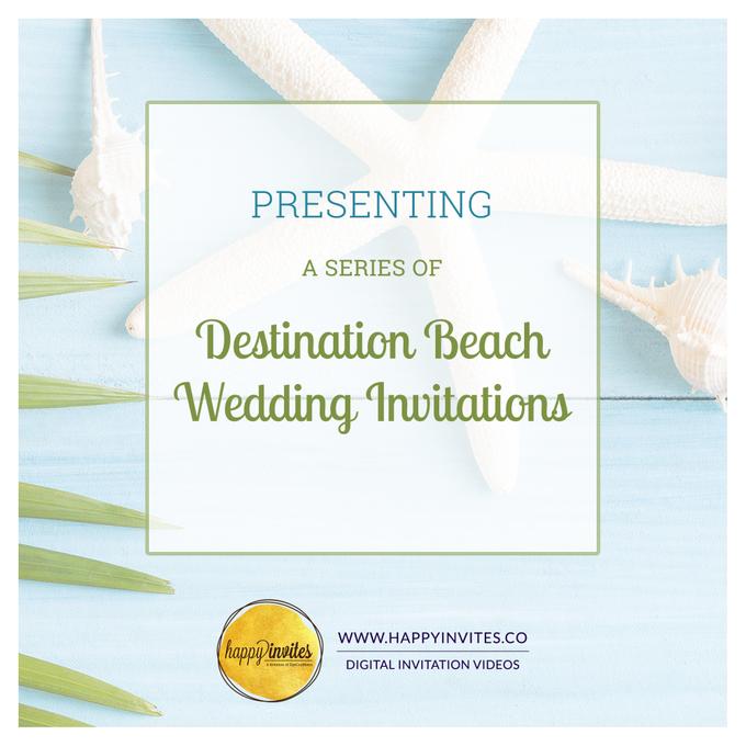 Destination Beach Wedding Invitations by Happy Invites - 001