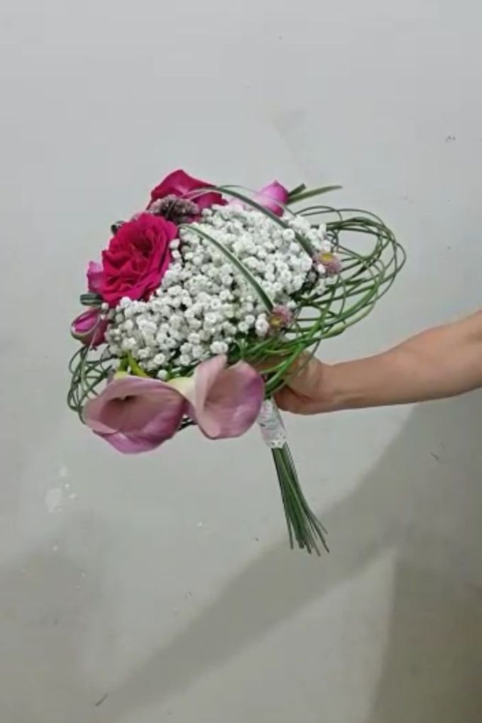 Pink Art Collection Bridal Bouquet by Amaryllis Floral Art - 002