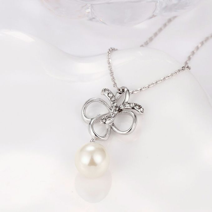 TIARIA Diamond Pearl Gold Necklace Perhiasan Kalung Emas Berlian by TIARIA - 005