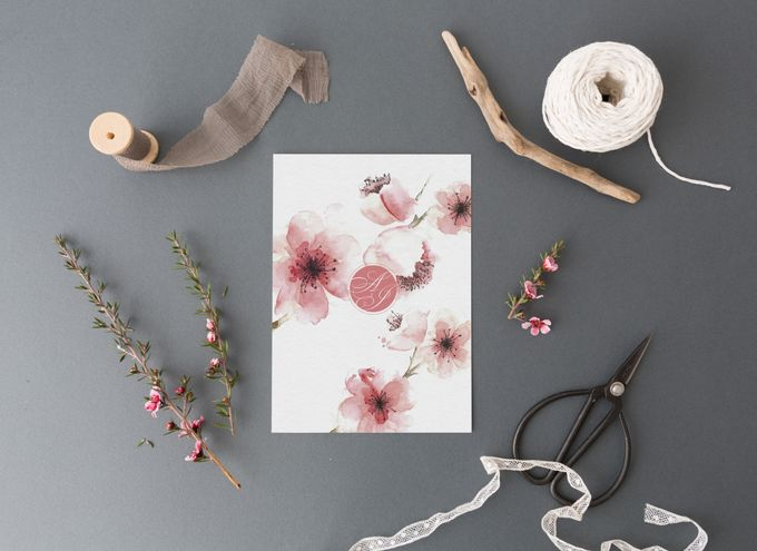 Cherry Blossom by Trouvaille Invitation - 002