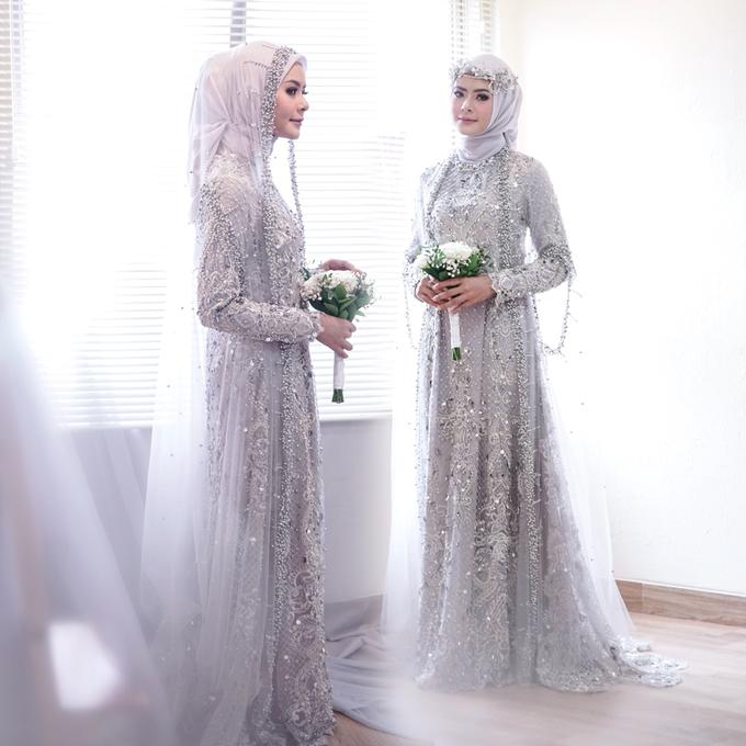 Gaun Resepsi Silver Rental Custom Made By Dinda Firdausa Kebaya