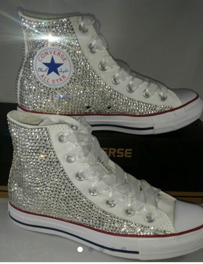 Pearls & Bling Custom Converse by DivineUnlimited - 002