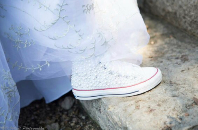 Pearls & Bling Custom Converse by DivineUnlimited - 005