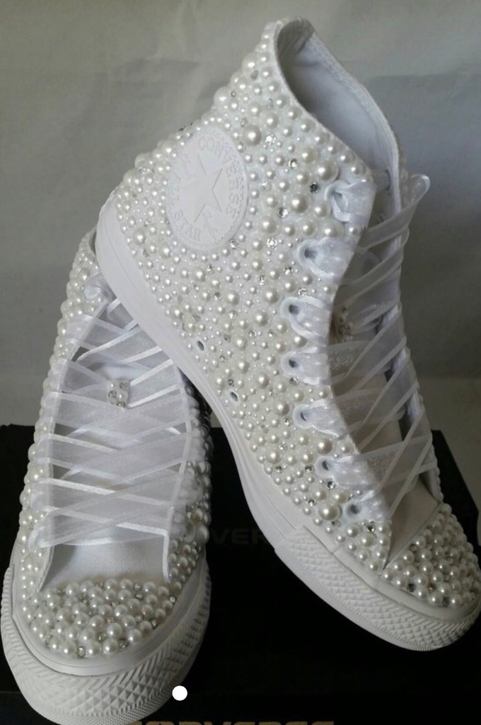 Pearls & Bling Custom Converse by DivineUnlimited - 004