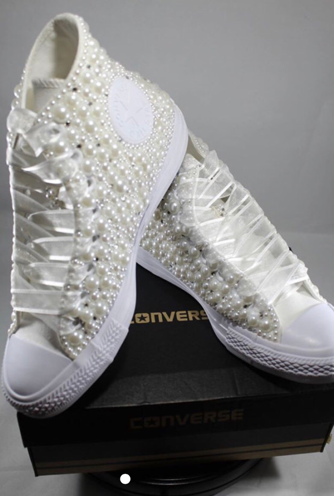 Pearls & Bling Custom Converse by DivineUnlimited - 003