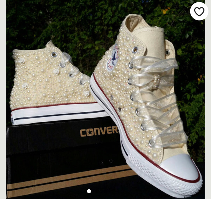 Pearls & Bling Custom Converse by DivineUnlimited - 007