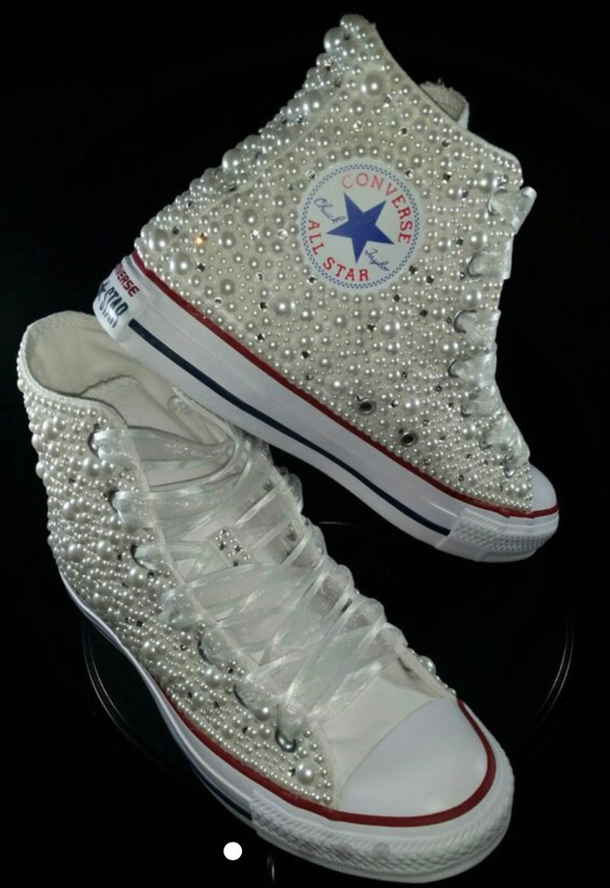 Add To Board Pearls   Bling Custom Converse by DivineUnlimited - 008 5cae3c8ebbec