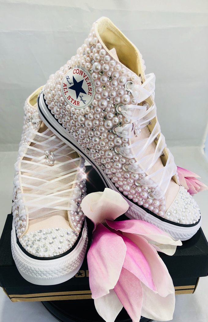 Pearls & Bling Custom Converse by DivineUnlimited - 011