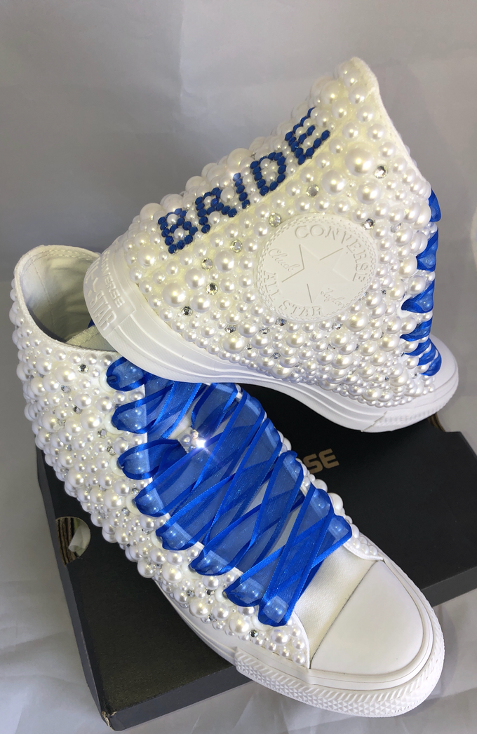 Pearls & Bling Custom Converse by DivineUnlimited - 010