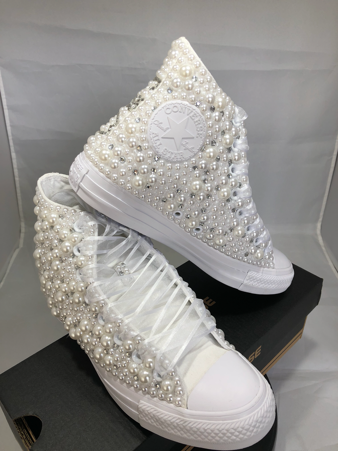 Pearls & Bling Custom Converse by DivineUnlimited - 012