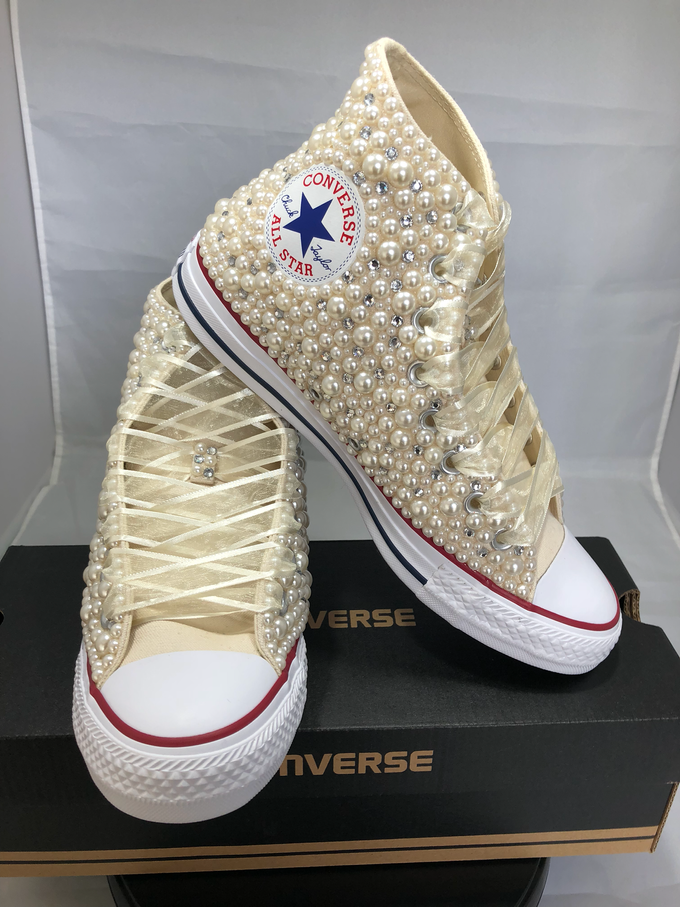 Pearls & Bling Custom Converse by DivineUnlimited - 013