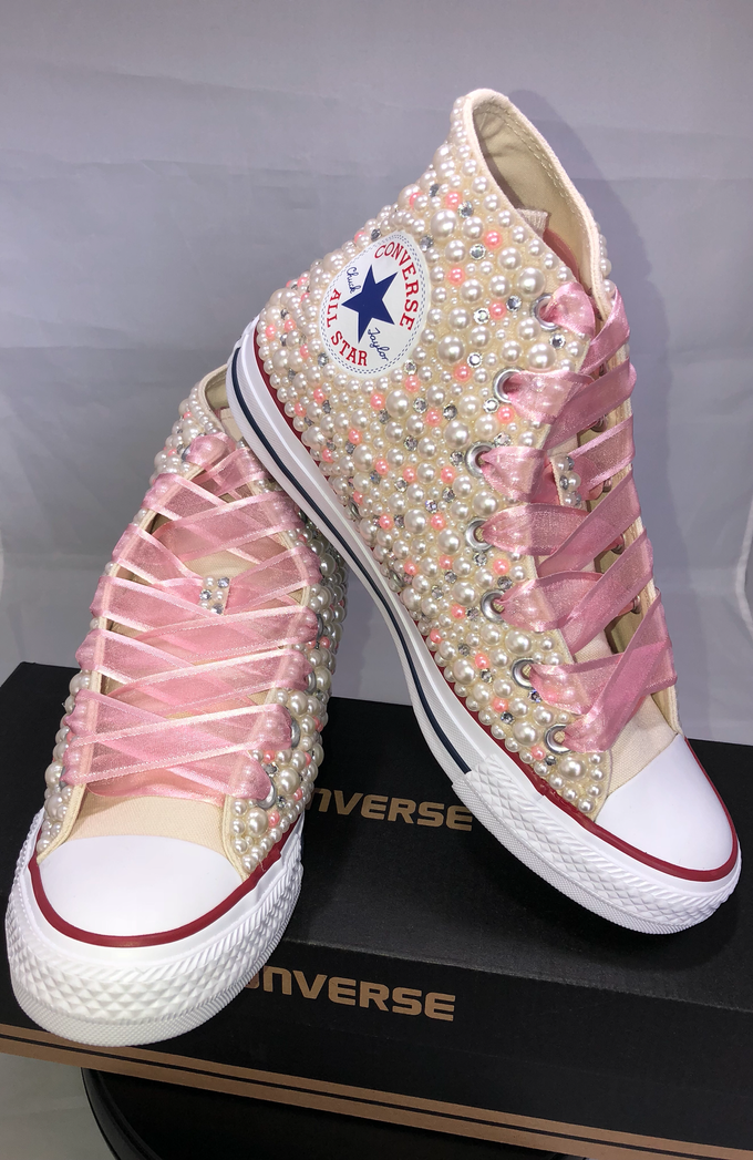 Pearls & Bling Custom Converse by DivineUnlimited - 014