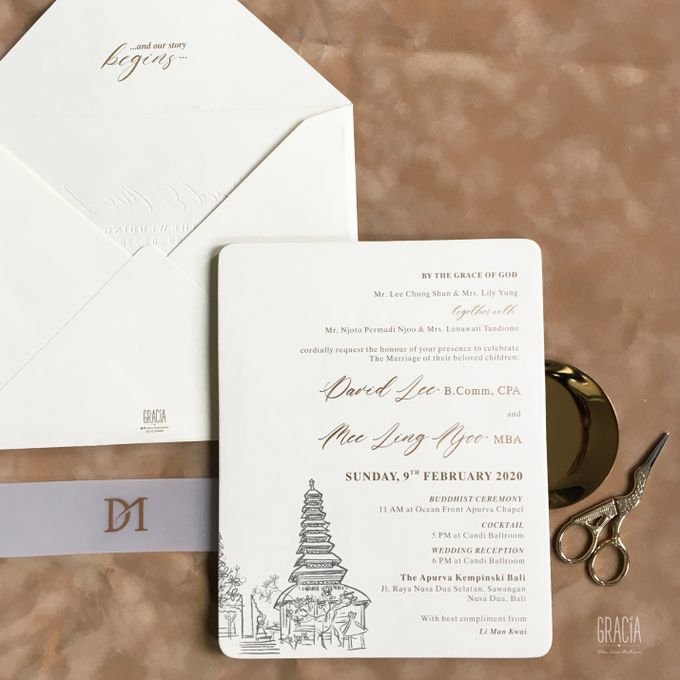 David & Mee ling by Gracia The Invitation - 003