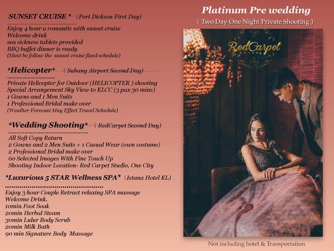 Platinum Pre wedding by RedCarpet Bridal Artistry - 001