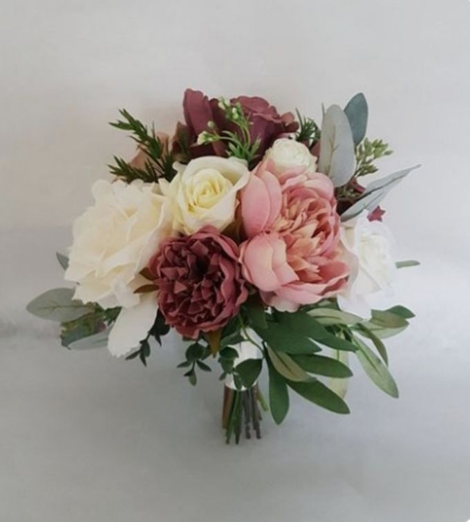 Dusty Pink With Cream Champagne by Dorcas Floral - 001