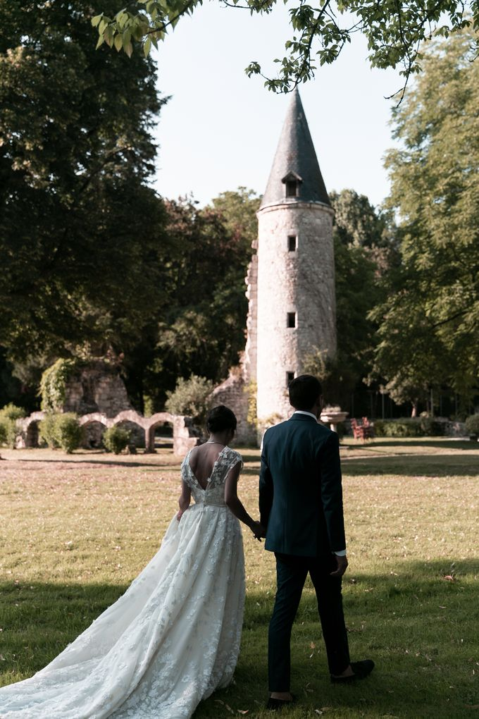 Al Fresco Wedding in the garden of a french castle by Dorothée Le Goater Events - 015