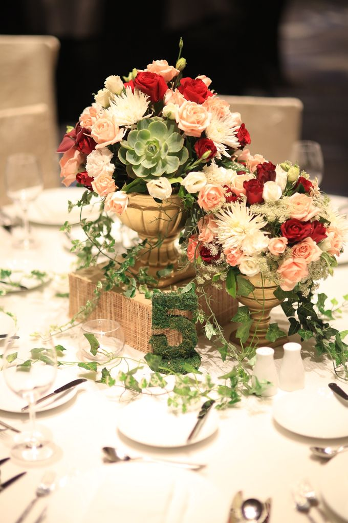 Reception Styling by Natural Art Flowers and Decors - 007