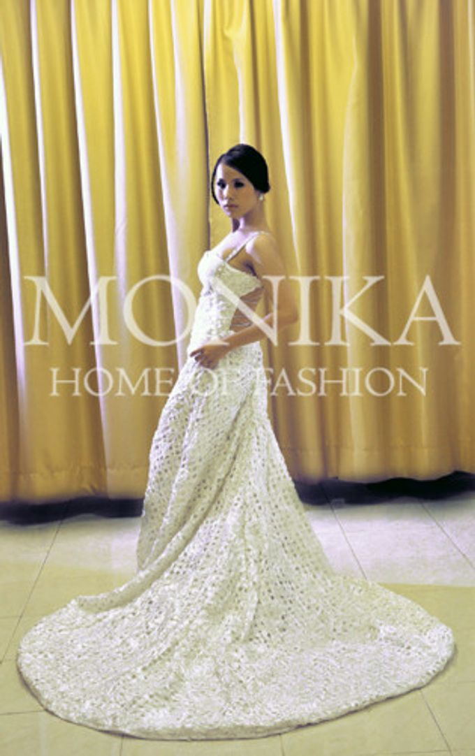 Dress - White by MONIKA WEBER Home of Fashion - 006