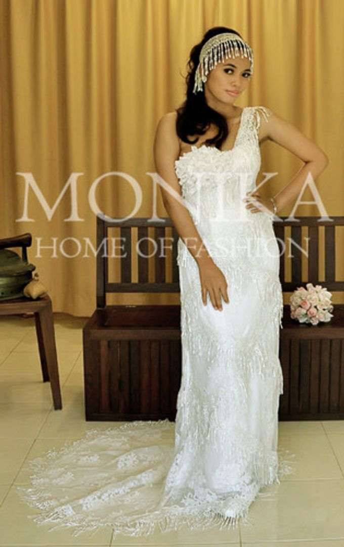 Dress - White by MONIKA WEBER Home of Fashion - 007