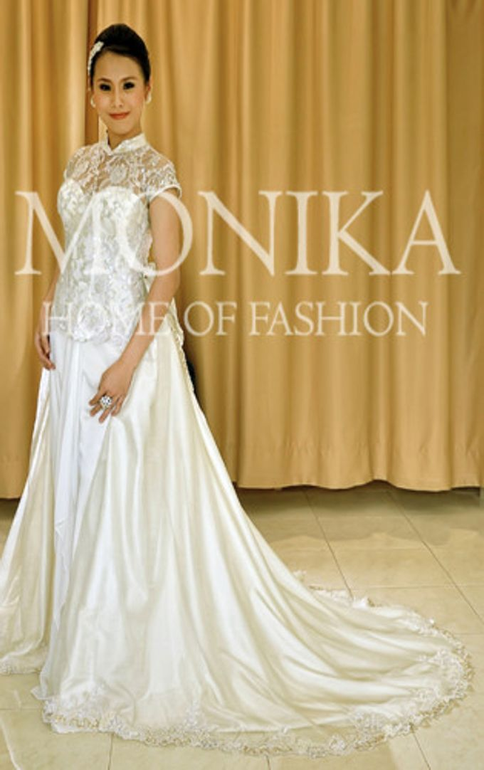 Dress - White by MONIKA WEBER Home of Fashion - 009