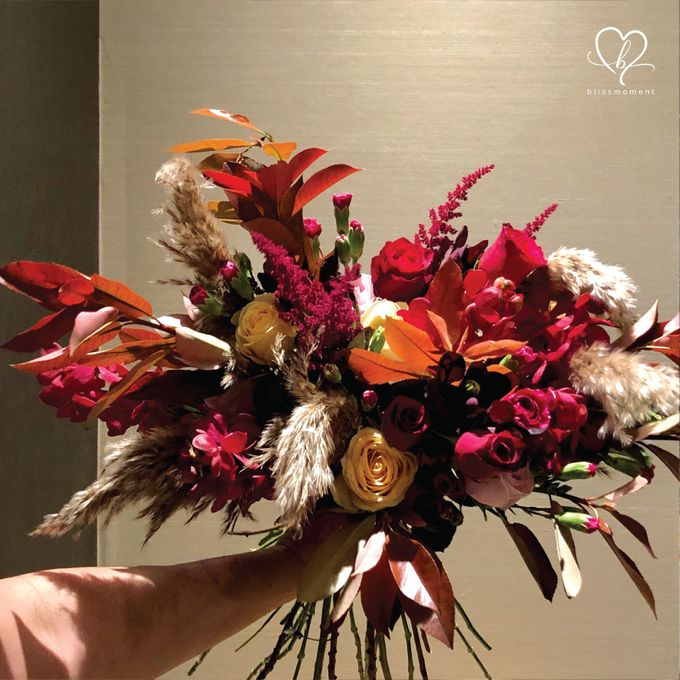 Dickson & Sue - Gold, champagne, blush, burgundy, brown Wedding by Blissmoment - 011