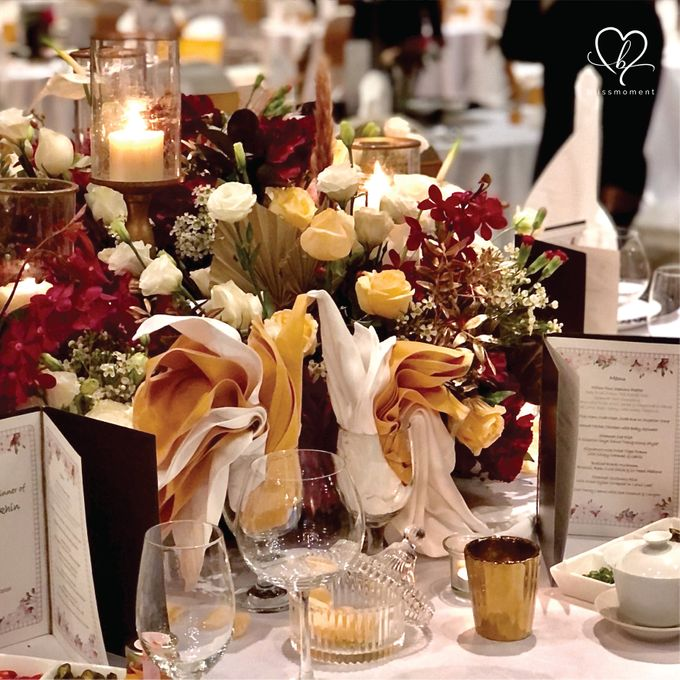 Dickson & Sue - Gold, champagne, blush, burgundy, brown Wedding by Blissmoment - 014