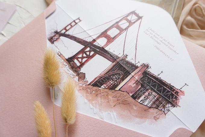 Bridge of Love by Trouvaille Invitation - 011