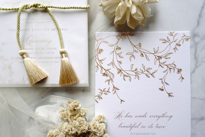 Romantic Floral by Trouvaille Invitation - 003