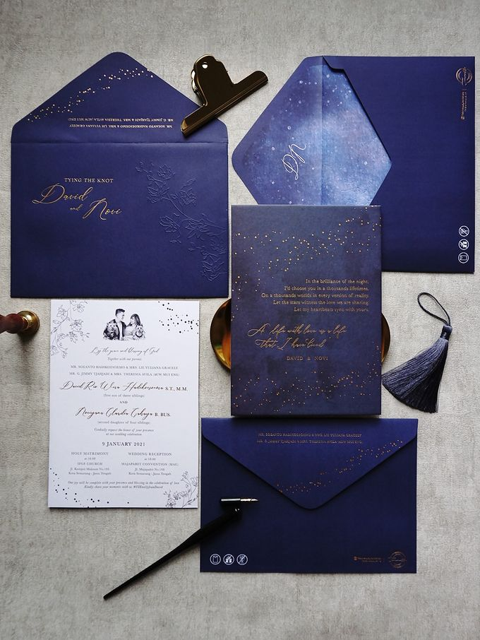 Starry Night by Trouvaille Invitation - 009