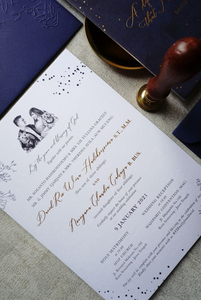 Starry Night by Trouvaille Invitation - 012