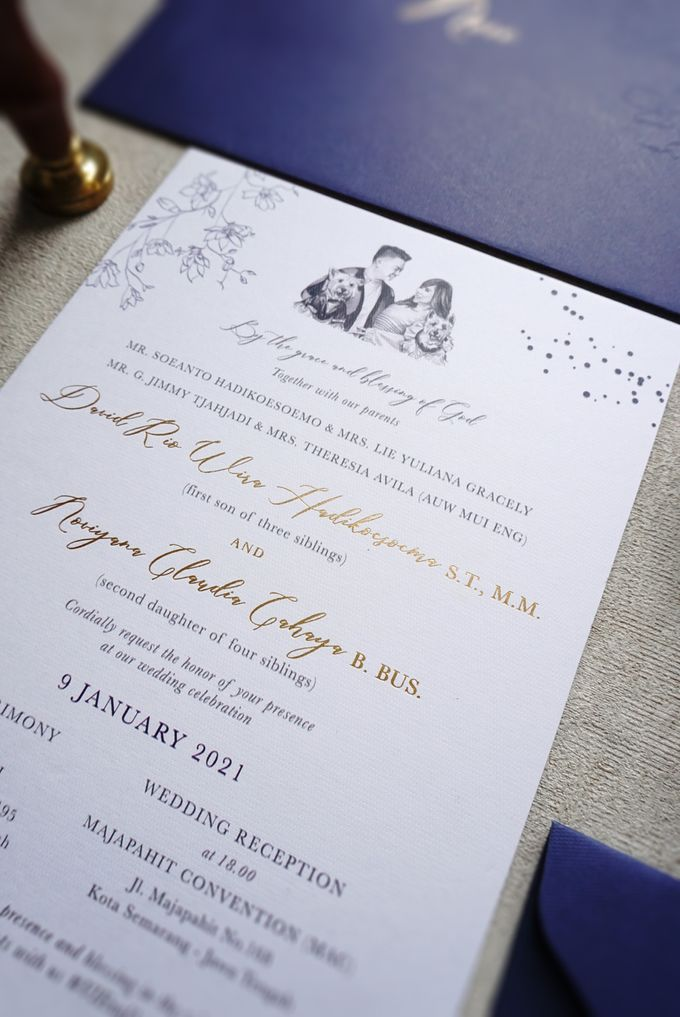 Starry Night by Trouvaille Invitation - 002